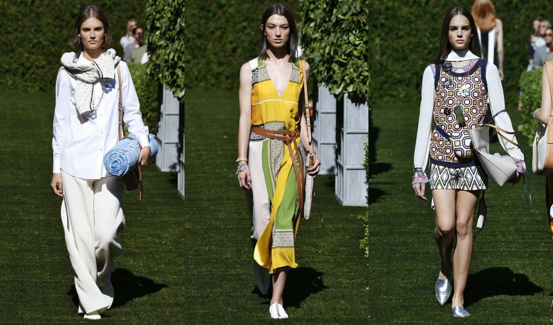 95d8e6fbc74 Tory Burch took her show al fresco this season to the manicured garden of  the Cooper Hewitt