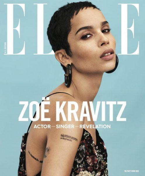 Zoe Kravitz Uk: Zoë Kravitz Covers Elle's January 2018 Issue