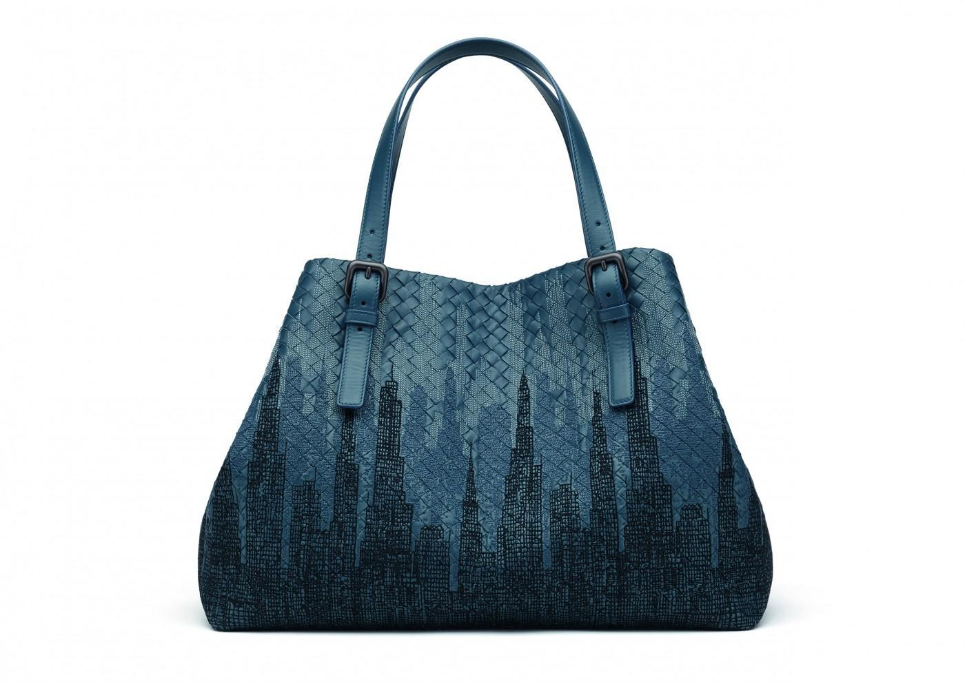 ... inspired by New York City s street grid. The bag uses a special inlay  leather work that s cut and pieced together by hand for a subtle  representation ... 602214e77e411