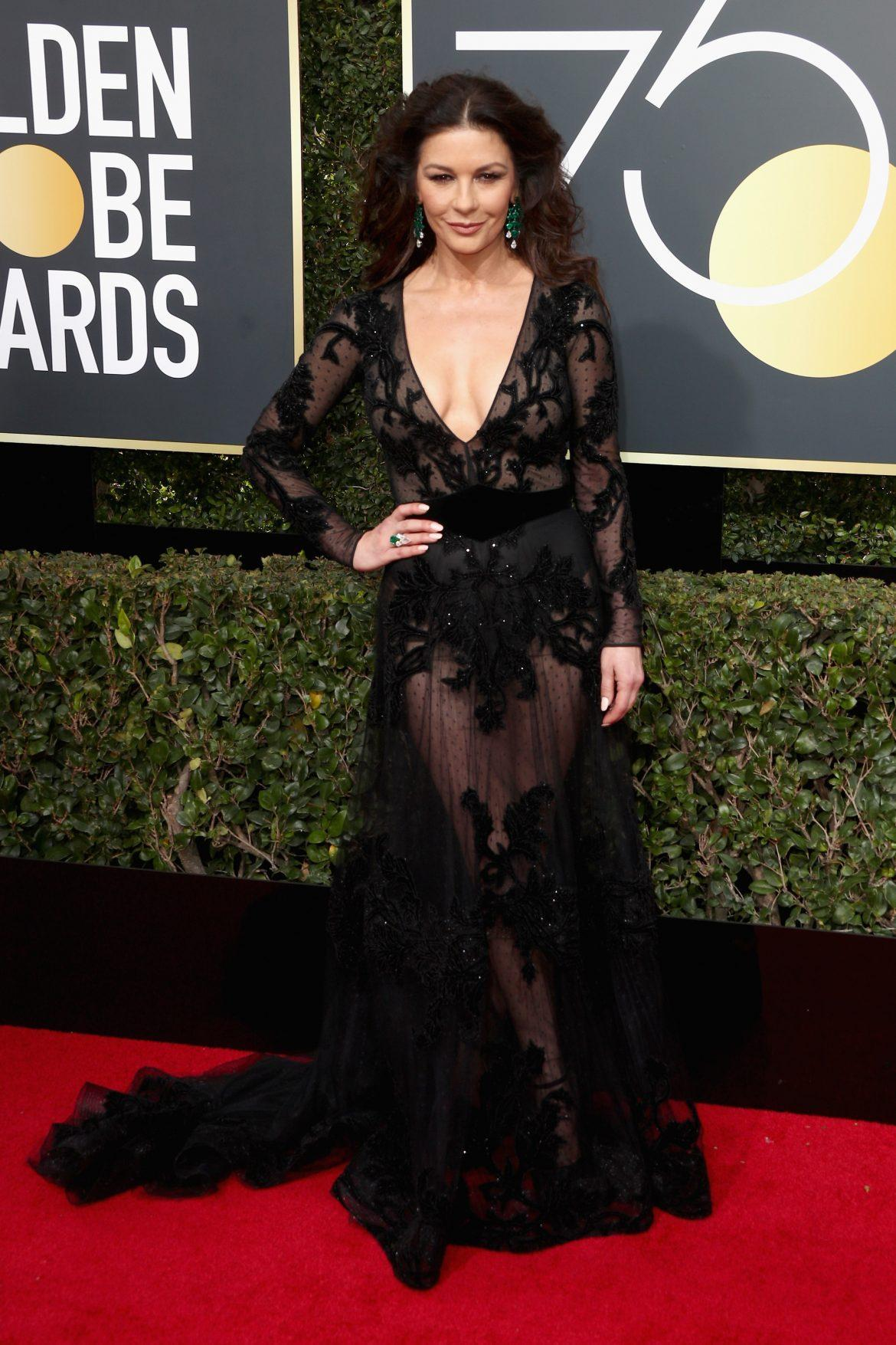 71 Stunning Black Dresses From the Golden Globes Red Carpet
