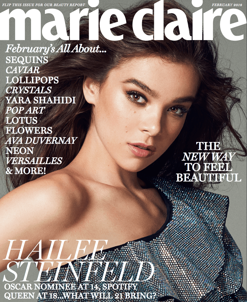 Hailee Steinfeld Looks Smokin Hot In The New Marie Claire #iloveyous 💗 watch the latest video from hailee steinfeld official (@haileesteinfeld). hailee steinfeld looks smokin hot in