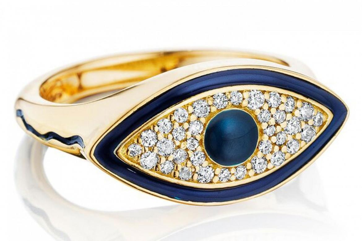 Editor S Pick Misahara S Evil Eye Signet Ring Trend Jewelry