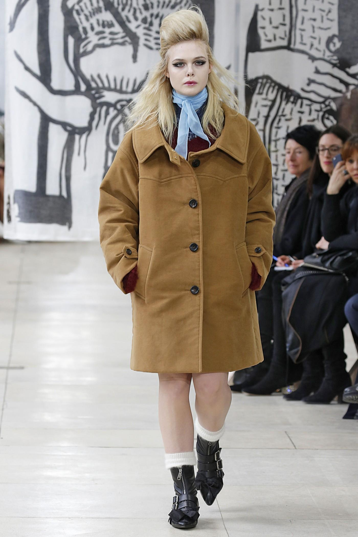 9dc0d706e317 Elle Fanning Just Opened (and Closed) the Miu Miu Show
