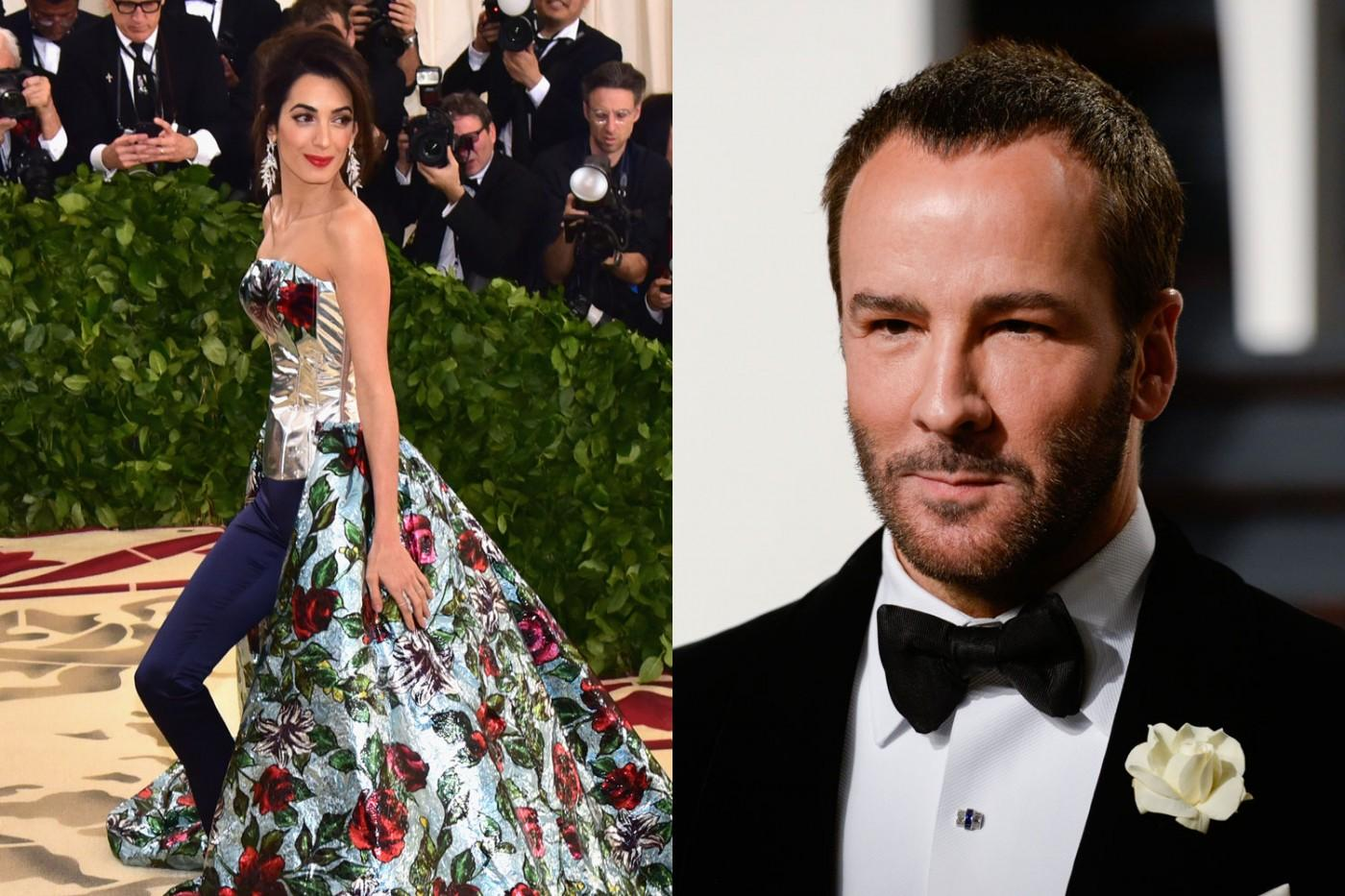 Tom Ford Furious With Amal Clooney After Last-Minute Met Gala Dress Swap