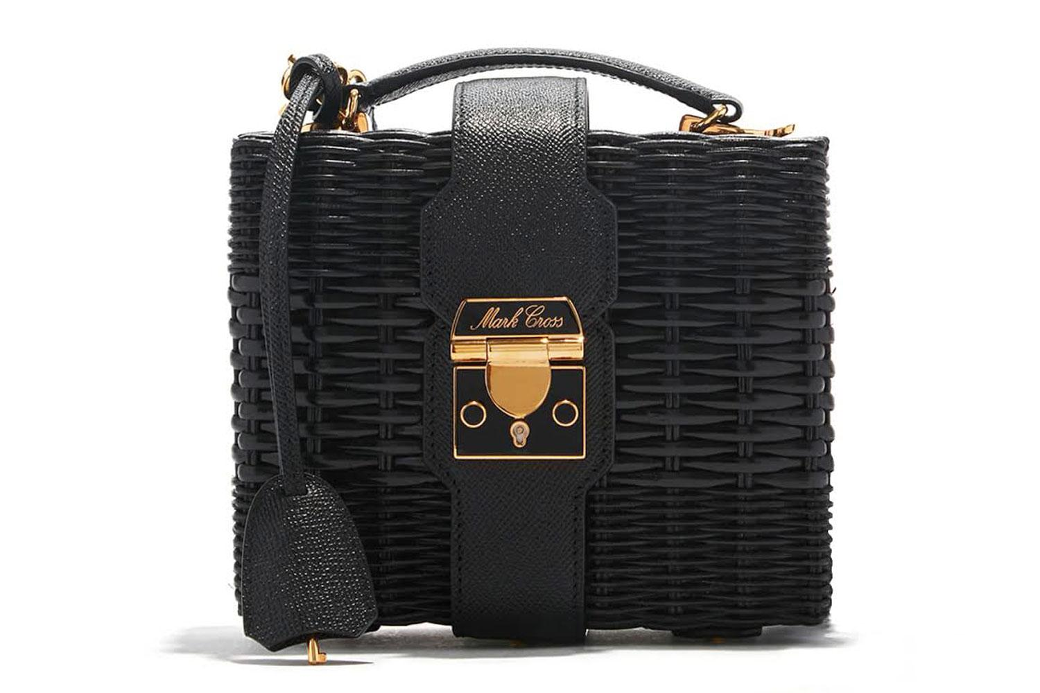 Editor S Pick Mark Cross Harley Rattan Bag