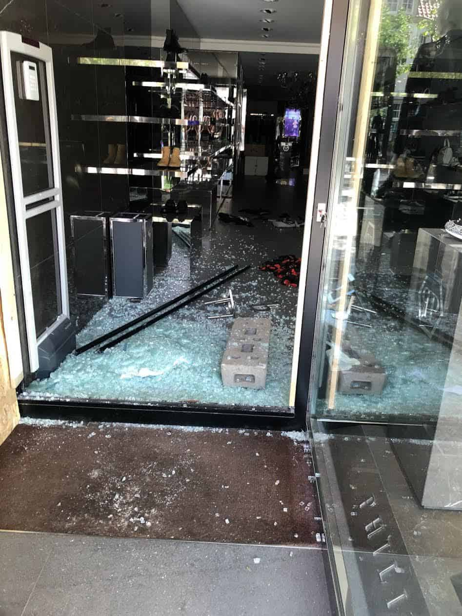 1e6af89511 Philipp Plein's Knokke store in Belgium following the break-in. (Philipp  Plein)