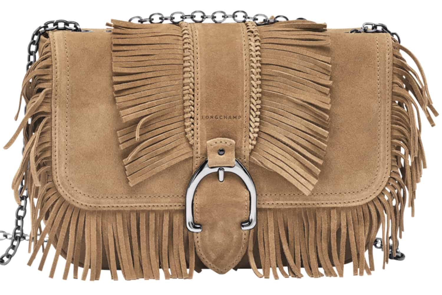 What  This fringed-out suede purse features supple leather  delicate 910f173089379