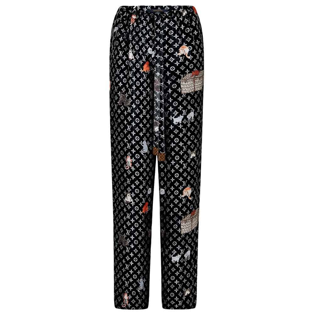 There are even printed silk pajamas and matching black monogram shoes! The  collection will be available at Louis Vuitton s ... ee6379b43251