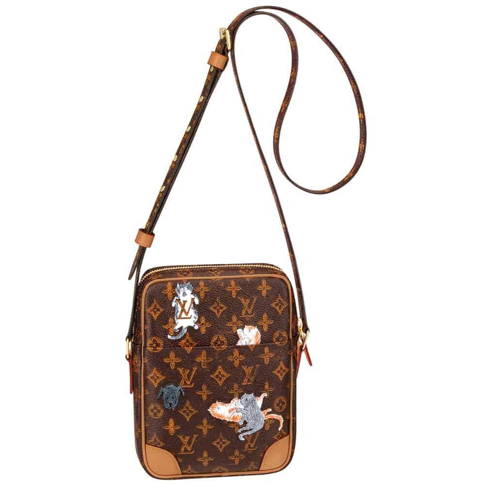 The collection is full of catified classic Louis Vuitton monogram bags like  the Neverfull and the Speedy. d041cec21907