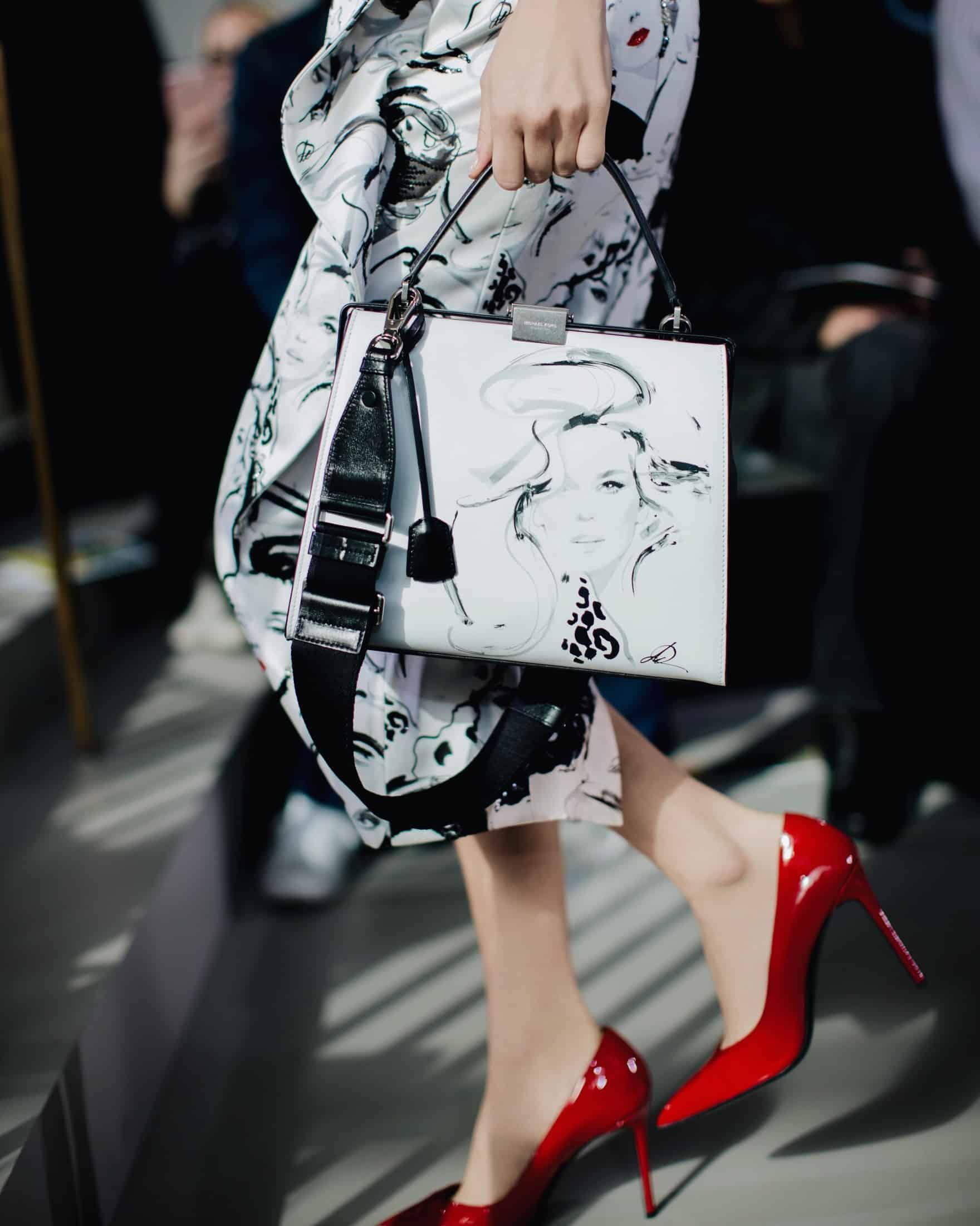fa10b8533fb7f6 Editor's Pick: Michael Kors' David Downton Collaboration Top-Handle Bag