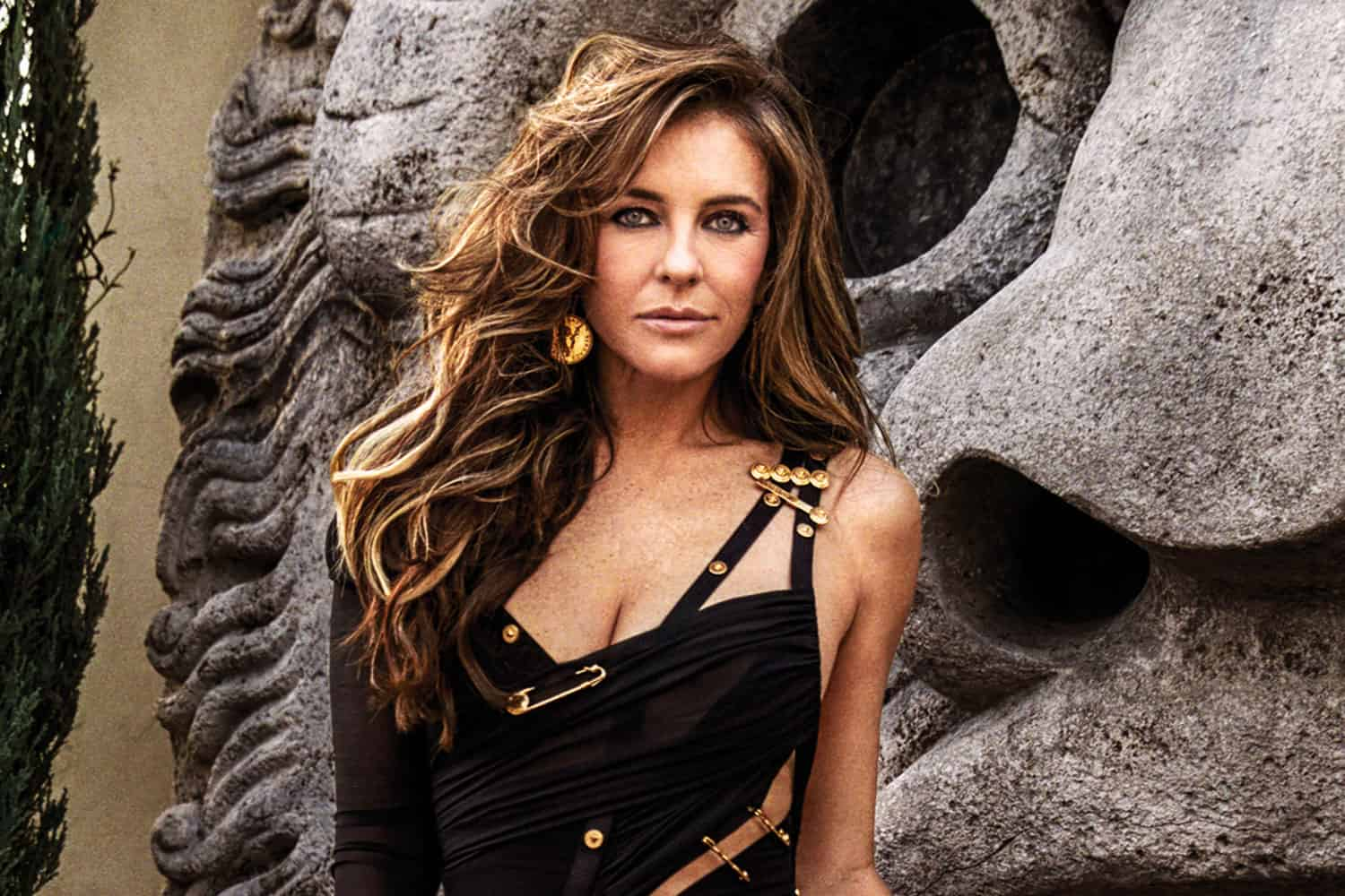 Elizabeth Hurley Revisits The Versace Dress That Put Her