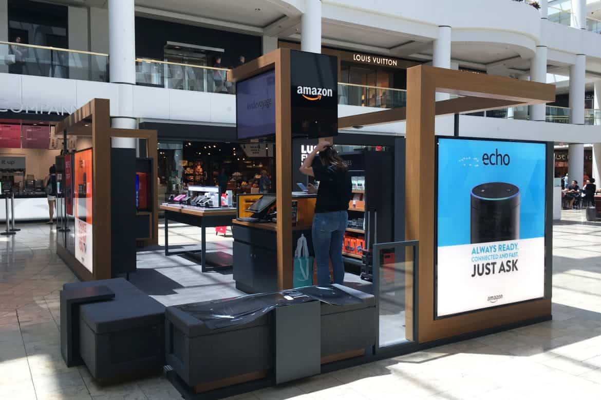 Amazon pop-up kiosks