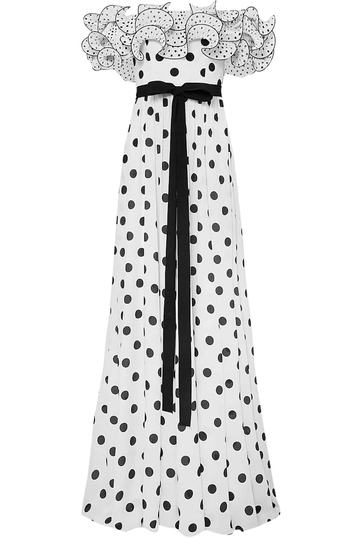 fall shopping polka dots