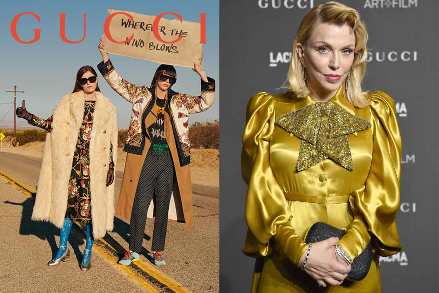Gucci Goes Carbon Neutral, Courtney Love's Sackler Feud Continues to Escalate