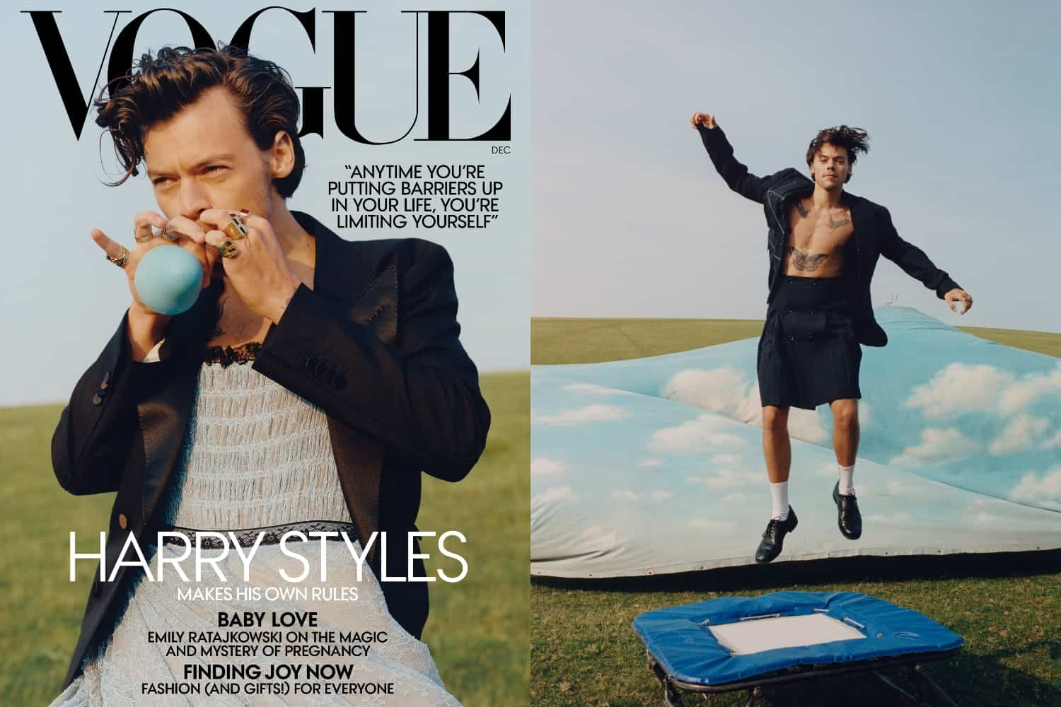 Harry Styles Becomes The First Man To Star On Vogue S Cover In 127 Years Daily Front Row